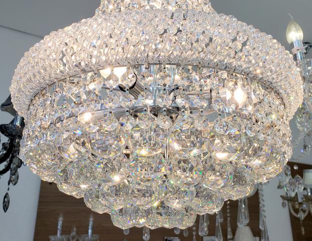 Imagem de Lustre Imperial Cristal Para Sala Jantar Ou Escada 45 Cm