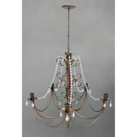 Imagem de Lustre Rustico Colonial para Iluminação de Sala de Jantar Grande