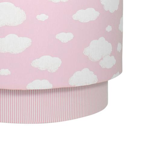 Imagem de Lustre Tubular Duplo Nuvem Rosa Quarto Bebê Infantil Menina