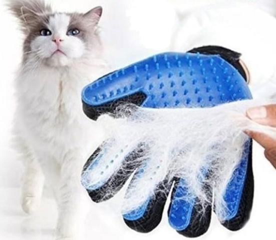 Imagem de Luva Escova Nano Magnética Tira Pelos Dos Pets Cães E Gatos