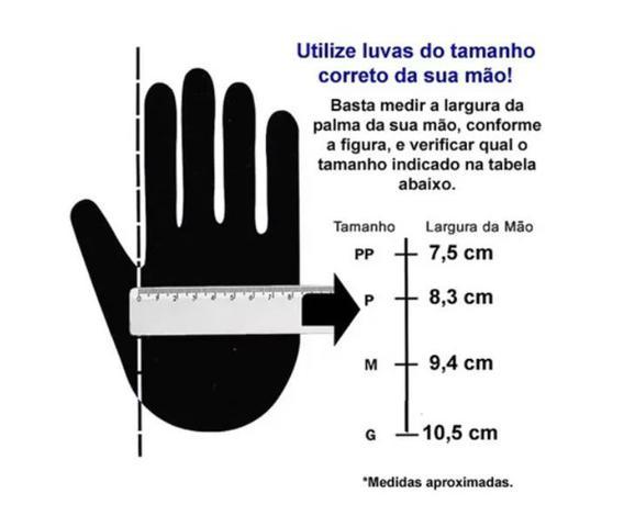 Imagem de Luva Nitrílica Black Profissional Proteção Agente Químico