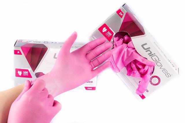 Imagem de Luva para procedimento Não Cirúrgico com pó M - LÁTEX Unigloves Standard