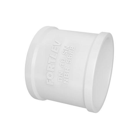 Imagem de Luva Simples em Pvc para Esgoto 40mm Branca