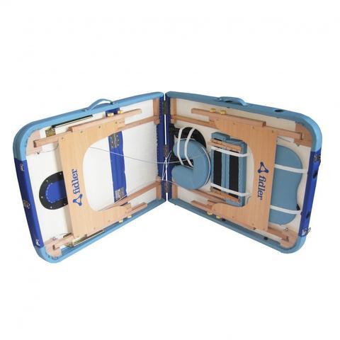 Imagem de Maca Portatil Mesa de Massagem Maleta Firme Azul 2 Tons