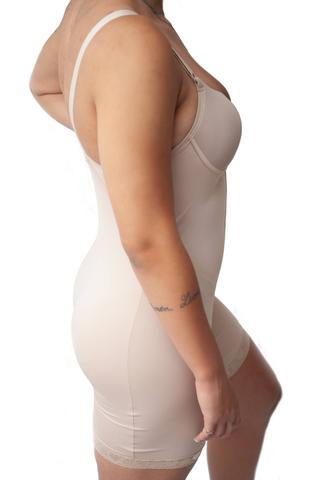 Imagem de Macacão Body Com Bojo Alta Compressão Modelador Com Perna