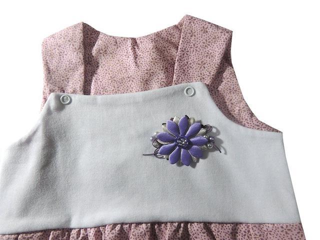 Imagem de Macacão Regata Infantil Flor Bebê Menina