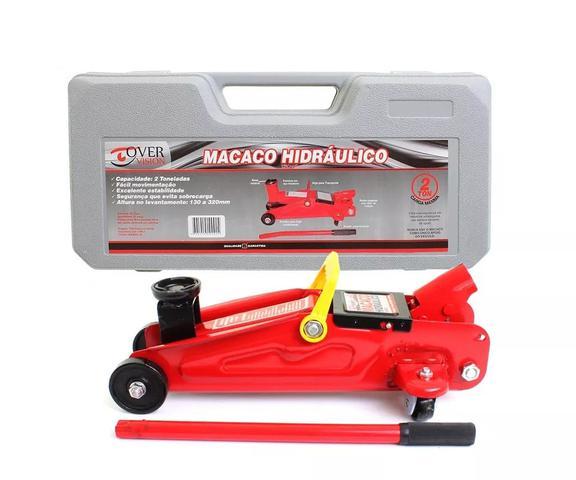 Imagem de Macaco Hidráulico Com Maleta +  Compressor 3 bicos diferentes