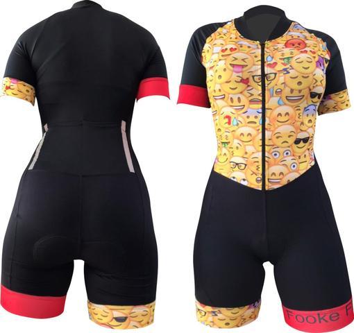 Imagem de macaquinho ciclismo feminino com forro D 80 tamanho M