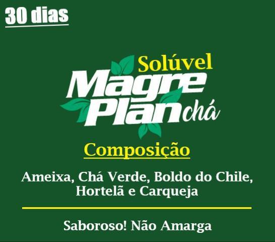 Imagem de Magreplan Chá solúvel 200g - Maracujá - 1 caixa