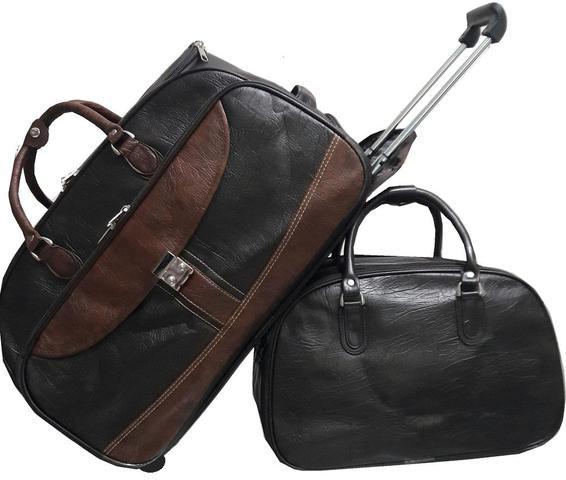 Imagem de Mala Bolsa de viagem, rodinhas, bordo, pequena e Bolsa de mão marrom