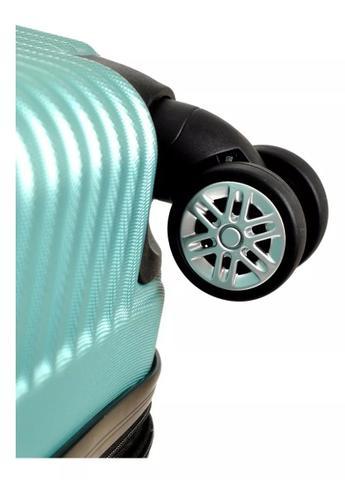 Imagem de Mala de Bordo Pequena Padrão Anac em ABS Rígida Rodas 360 Giratórias