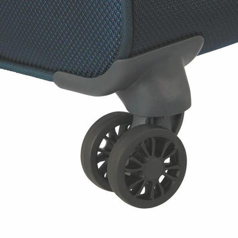 Imagem de Mala de Bordo Pequena para Viagem em Poliéster SAMSONITE Popsoda Cadeado TSA e Rodas Duplas Azul