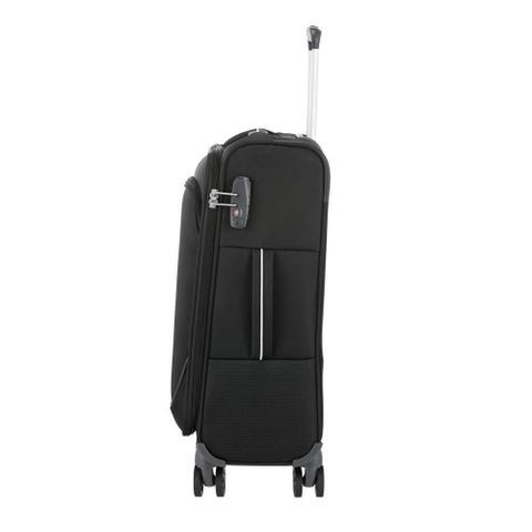 Imagem de Mala de Bordo Pequena para Viagem em Poliéster SAMSONITE Popsoda Cadeado TSA e Rodas Duplas Preta