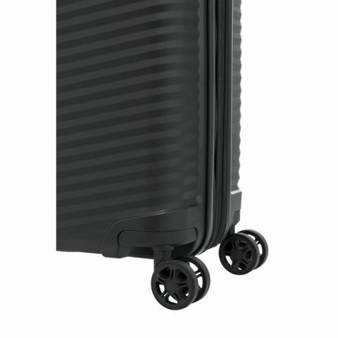 Imagem de Mala de Bordo Pequena para Viagem Expansível em Polipropileno Samsonite Varro Cadeado TSA Preta