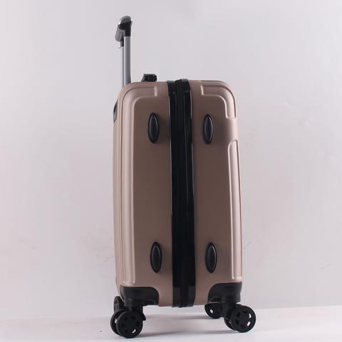 Imagem de Mala de Viagem Temqtem Gold Pequena Bordo ABS Cadeado Rodas Duplas Menor Preço Mais Barata 03