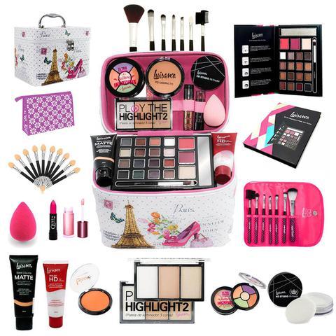 Imagem de Maleta Completa com Maquiagens kit Luisance + muitos itens  bz54
