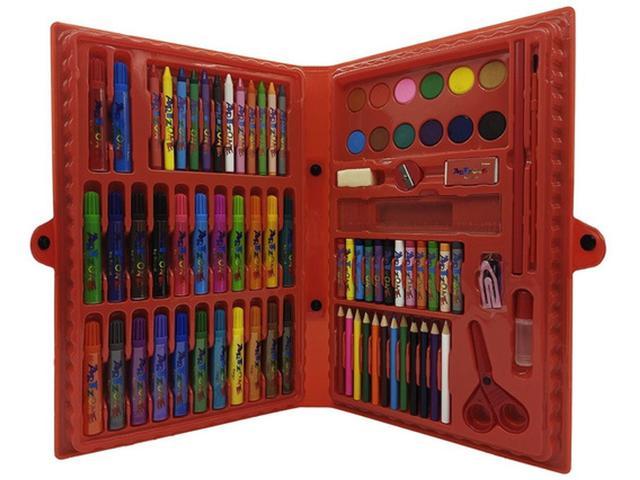Imagem de Maleta De Pintura Infantil Estojo 86 Peças Escolar