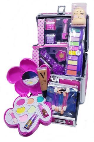 Imagem de Maleta Infantil Kit Maquiagem - Sombras, Brilho, Blush