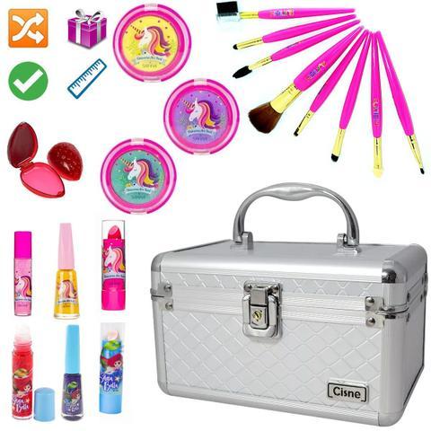 Imagem de Maleta Maquiagem Com Kit Maquiagem Infantil Completo MKI039