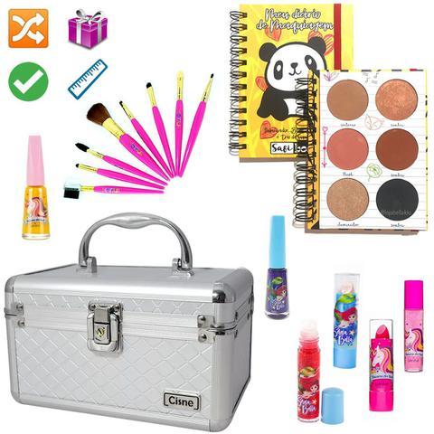 Imagem de Maleta Maquiagem Com Kit Maquiagem Infantil Completo MKI047
