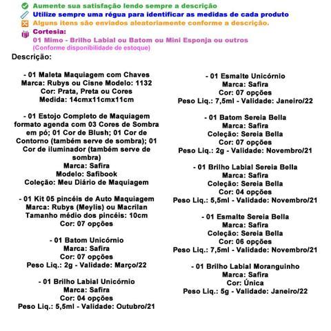 Imagem de Maleta Maquiagem Com Kit Maquiagem Infantil Completo MKI055
