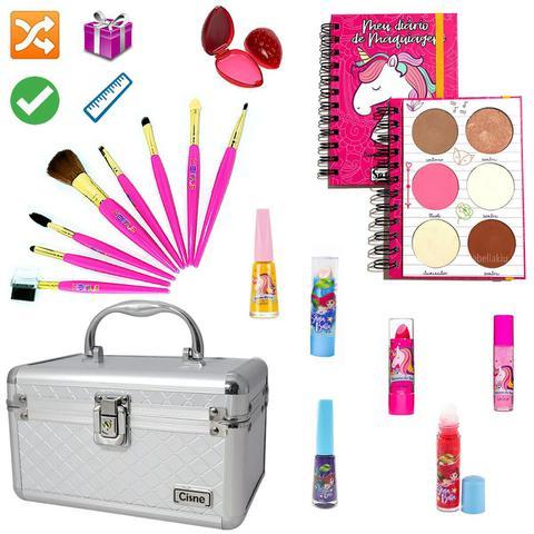 Imagem de Maleta Maquiagem Com Kit Maquiagem Infantil Completo MKI096