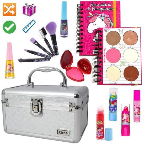 Imagem de Maleta Maquiagem Com Kit Maquiagem Infantil Completo MKI104