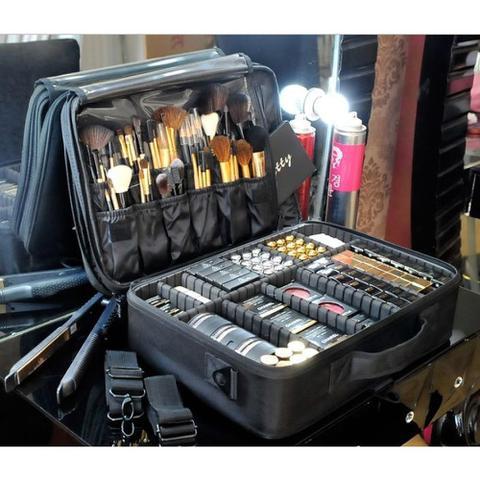 Imagem de Maleta Maquiagem Mochila Case Profissional Maquiador Makeup