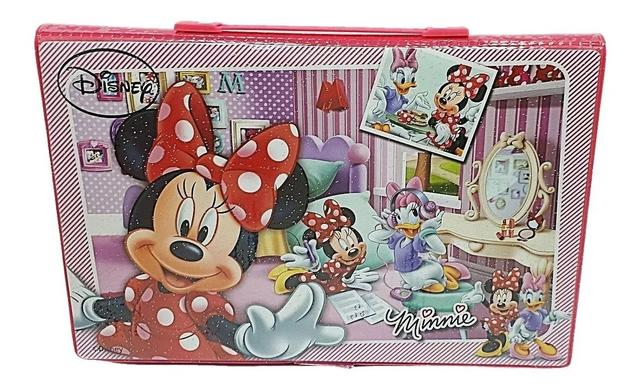 Imagem de Maleta Pintura Escolar Minnie Disney Estojo 85 Itens - Minie