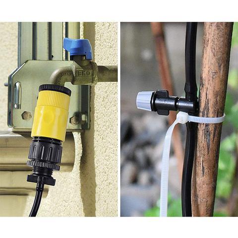 Imagem de Mangueira Climatizadora Kit Sistema Irrigacao Nevoa Quintal Grama 10 M Jardim