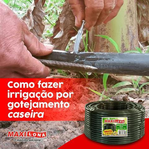 Imagem de Mangueira  Preta Irrigação 1/2  - 1,5mm - Rolo C/ 110m