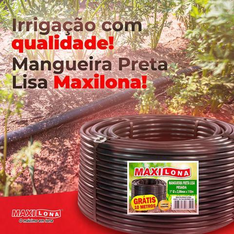 Imagem de Mangueira  Preta Irrigação Plastica 1/2 - 1,3 mm PESADA - Rolo C/ 60m