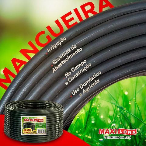 Imagem de Mangueira Preta Lisa 3/4 '' - 2,5mm Reforçada. Rl 110 Metros
