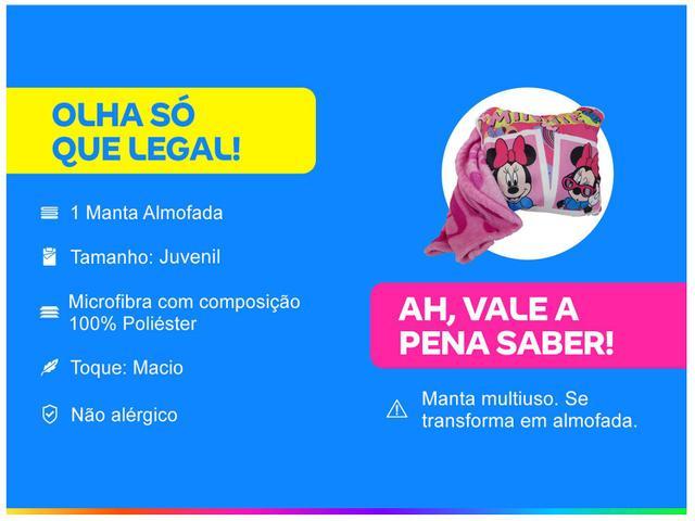 Imagem de Manta Almofada Juvenil Jolitex Microfibra Disney