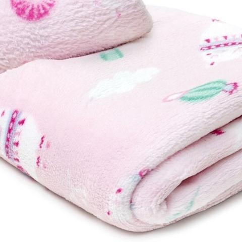 Imagem de Manta Bebe Menina Menino Cobertor Quentinho Microfibra Soft Toque Macio