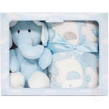 Imagem de Manta com Pelúcia Gift Elefante Azul Buba