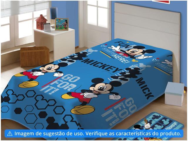 Imagem de Manta Infantil Solteiro Jolitex Microfibra - Disney Mickey Fun Azul