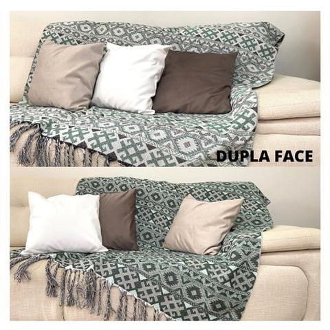Imagem de Manta Para Sofa com Franja Verde Love4Home