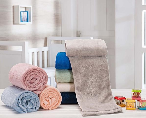 Imagem de Manta Soft De Bebê Infantil Cobertor Anti-alérgica Antiácaro Sortidas