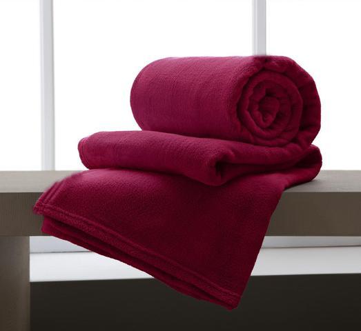 Imagem de Manta Solteiro de Microfibra Home Design Vermelho 150x200 cm - Corttex