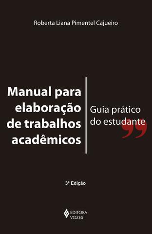 Imagem de Manual para elaboração de trabalhos acadêmicos