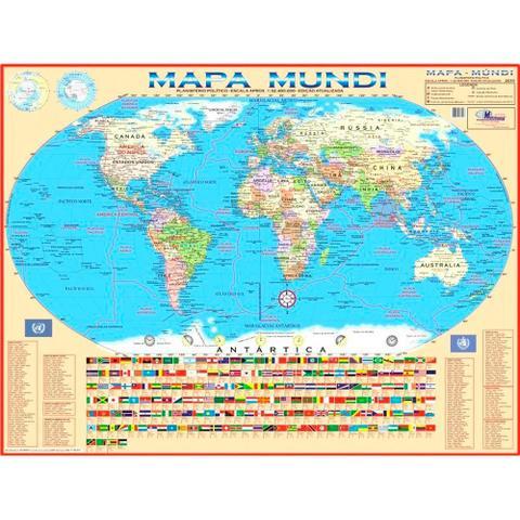 Imagem de Mapa Mundi 120x90 cm Dobrado