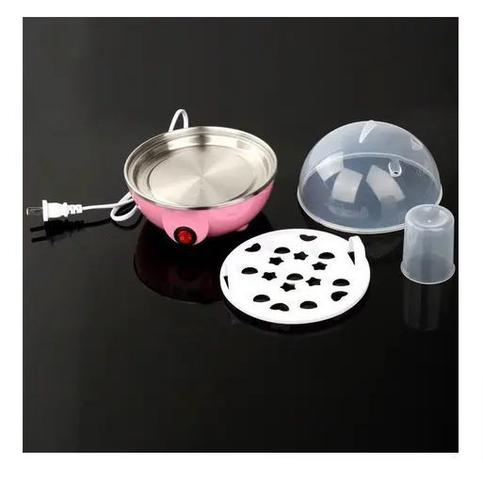 Imagem de Máquina Cozedor Elétrico à Vapor Ovo Cozido Frito Omelete Mini Panela Elétrica Multi Funções 7 ovos