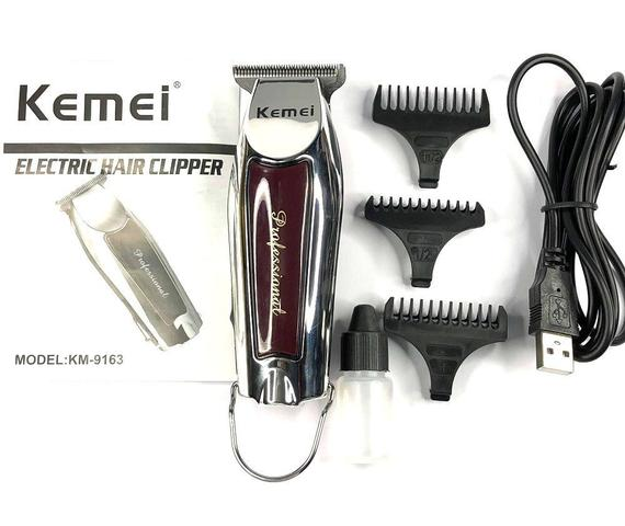 Imagem de Maquina De Acabamento Cabelo Barba Profissional Sem Fio Kemei Km-9163 Bivolt