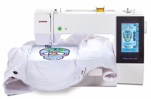 Imagem de Máquina de Bordar Eletrônica - Janome MC500E com 160 Bordados