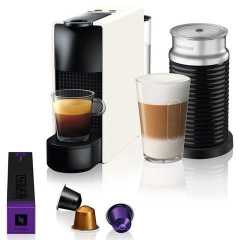 Cafeteira Expresso Nespresso Essenza Mini & Aeroccino Branco 220v - A3nc30br3whn