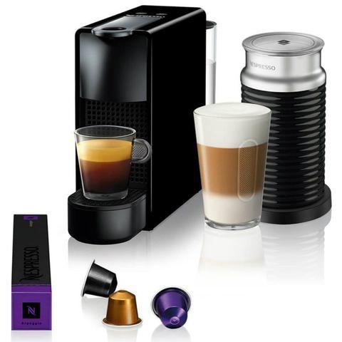 Cafeteira Expresso Nespresso Essenza Mini & Aeroccino Preto 110v - A3nc30brbkne