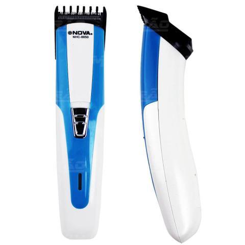 Imagem de Máquina de cortar Cabelo e barbeador NOVA AZUL- NHC-8850