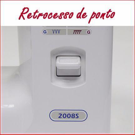 Imagem de Máquina de Costura Doméstica, 14 Pontos, Lanç. Oscilante, Braço Livre, 750ppm, 2008S