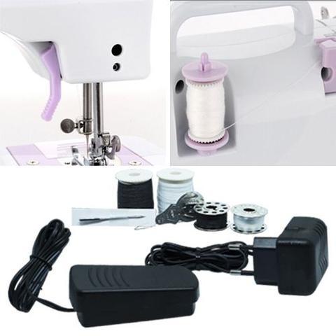 Imagem de Máquina de Costura Elétrica Portátil Compact 12 Pontos Bivolt 110V 220V Zig Zag